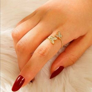 Double Butterfly Wrap Ring🦋